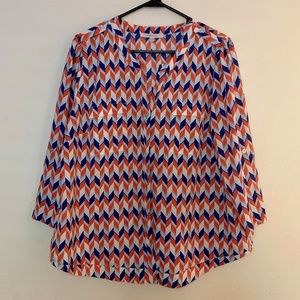 Stitch Fix 41 Hawthorn | Chevron Geometric Top 1X